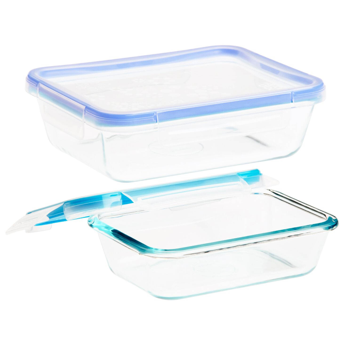 Snapware Leakproof Pyrex Glass Food Keeper Set. Snapware Airtight & Leakproof Pyrex Glass Food Keeper Set (Piece Set) CLICK FOR BEST PRICE. Unlike the previous set these Pyrex containers have lids that fasten with a clip and they are advertised as being % airtight and leakproof making them suitable for use on the go.