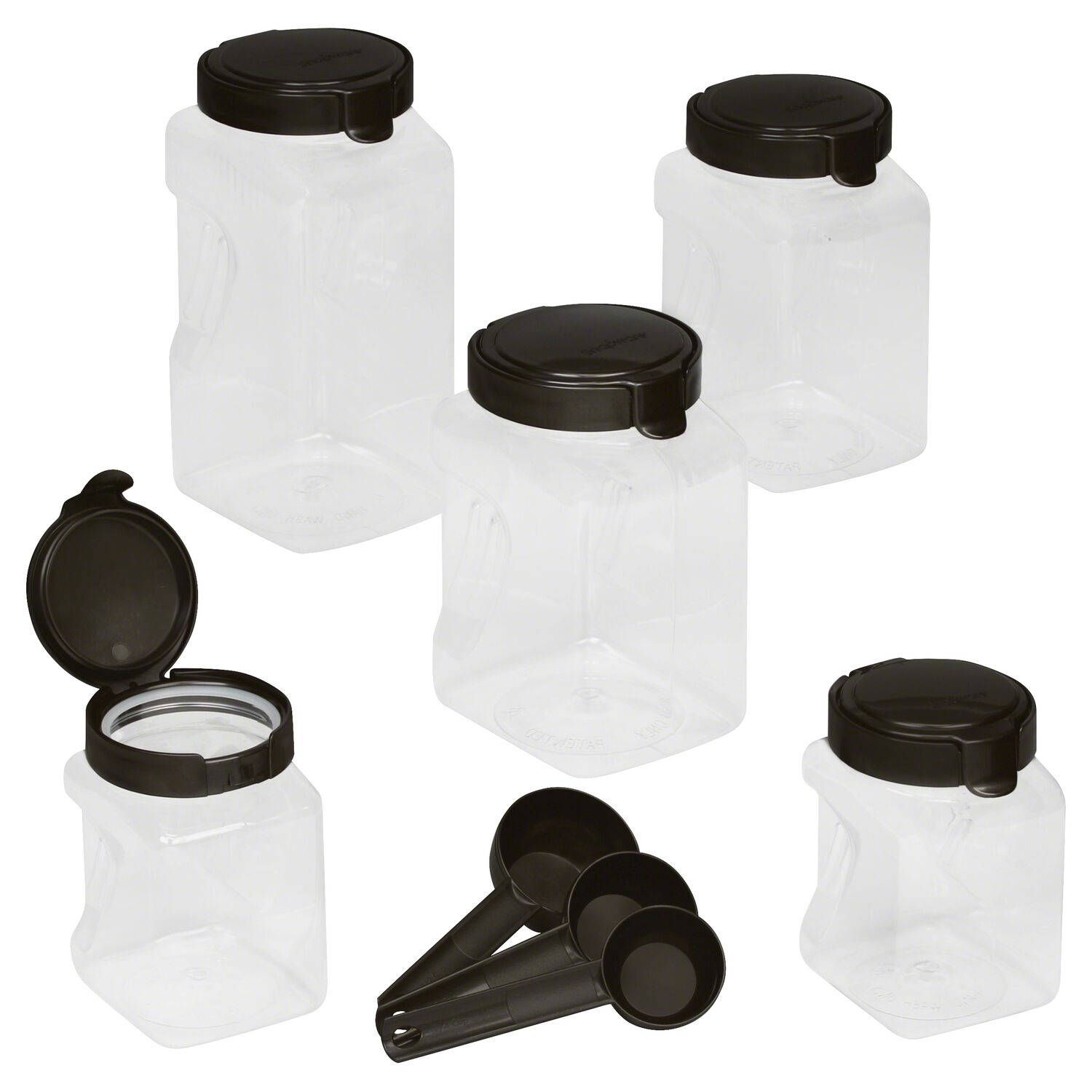 snapware everyday solutions in a snap snapware airtight food storage 10 pc square canister set