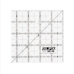 "6-1/2"" Square Frosted Acrylic Ruler (QR-6S)"