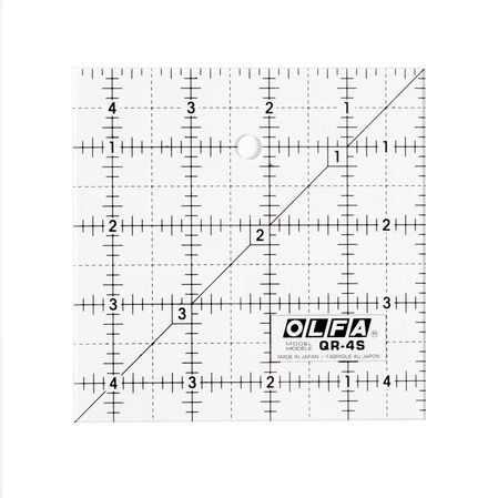 "4-1/2"" Square Frosted Acrylic Ruler (QR-4S)"