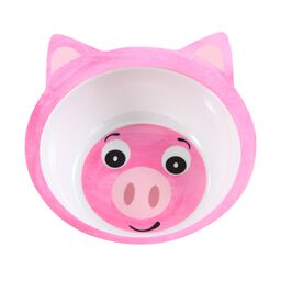 Friendly Faces Melamine Pig Bowl