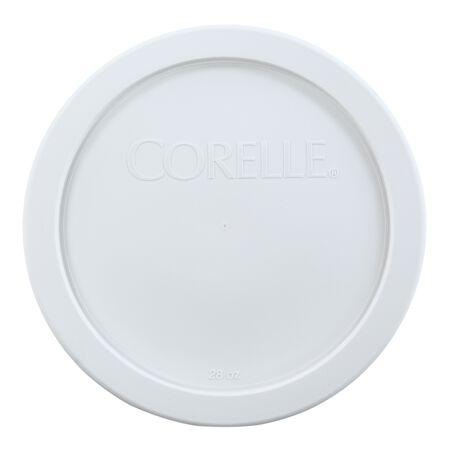Livingware™ Plastic Lid 28-oz Round, White