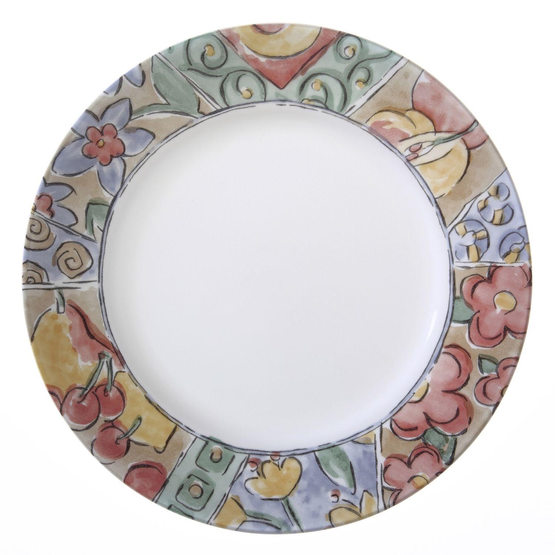 Chemineeholz Aufbewahrung impressions watercolors 16 pc dinnerware set corelle