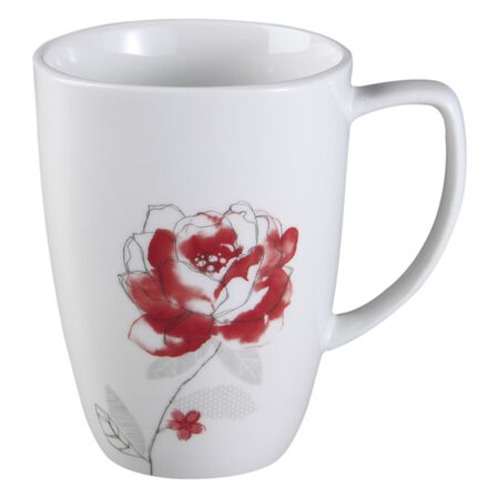 Square™ Blushing Rose 12-oz Porcelain Mug