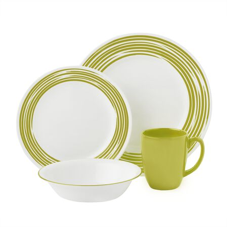 Boutique™ Brushed 16-pc Dinnerware Set, Green