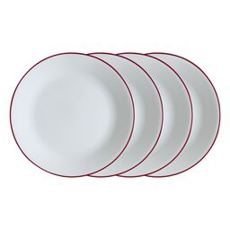 "Livingware™ Radiant Red 10.25"" 4-pc Plate Set"