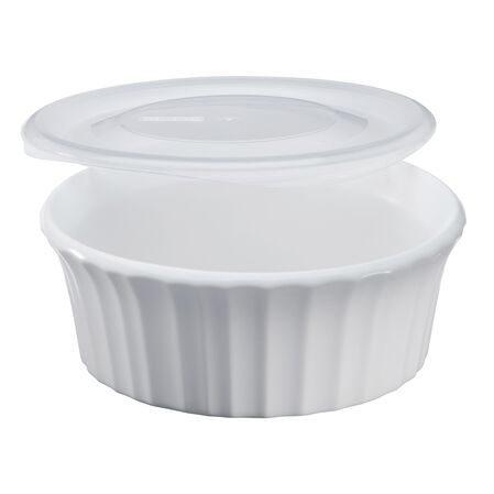 French White® 16-oz Round Baker w/ Lid