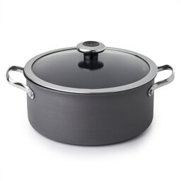 Clean Pan™ 5-qt Hard Anodized Aluminum Non-stick Dutch Oven w/ Lid