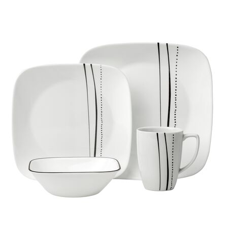 Square™ Cascading Lines 16-pc Dinnerware Set