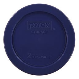 Plastic Lid 2 Cup Round, Blue