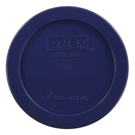 2 Cup Round Plastic Lid, Blue