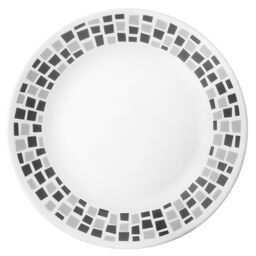"Boutique™ Precious Colors 8.5"" Plate, Platinum Silver"