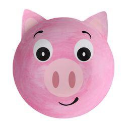 Friendly Faces Melamine Pig Plate