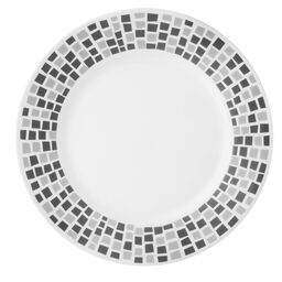 "Boutique™ Precious Colors 10.75"" Plate, Platinum Silver"