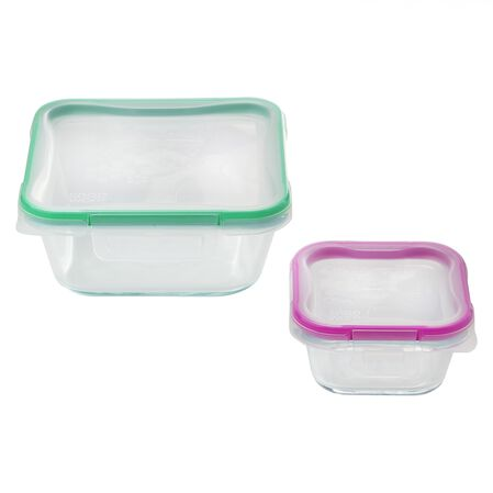 Total Solution™ Pyrex® Glass Food Storage 4-pc Rectangular Set