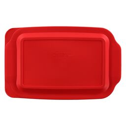Plastic Lid 3-qt Oblong, Red