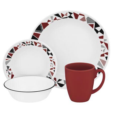 Livingware™ Mosaic Red 16-pc Dinnerware Set
