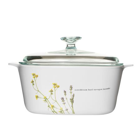 Stovetop™ Pyroceram® European Herbs 5L Casserole w/ Glass Cover