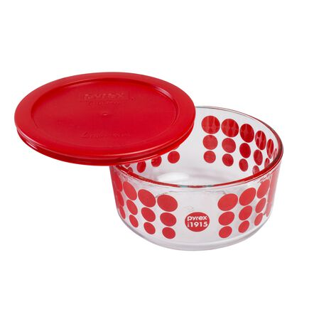 4 Cup 100th Anniversary Red Dot Storage Dish
