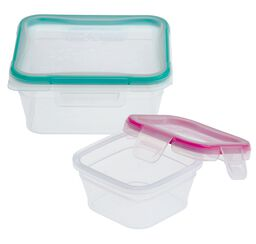 Total Solution™ Plastic Food Storage 4-pc Square Set