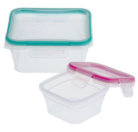 Total Solution™ Plastic Food Storage 4-pc Set, Square