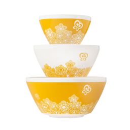 Golden Days 3-pc Mixing Bowl Set, inspired by Pyrex®