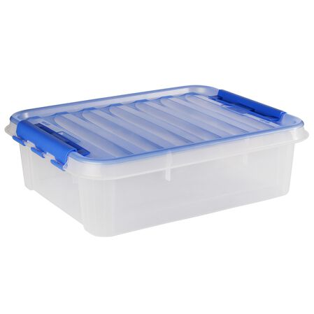 """Smart Store® 20"""" x 6"""" Home Storage Container w/ Blue Bell Handles"""