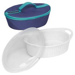 French White® Portable® 2.5-qt Oval Portable Set