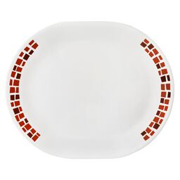 "Boutique™ Precious Colors 12.25"" Oval Platter, Ruby Red"