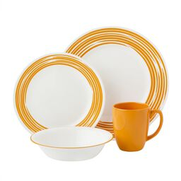 Boutique™ Brushed 16-pc Dinnerware Set, Orange