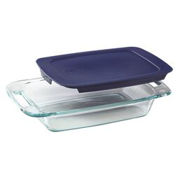 Easy Grab® 2-qt Oblong Baking Dish w/Blue Lid