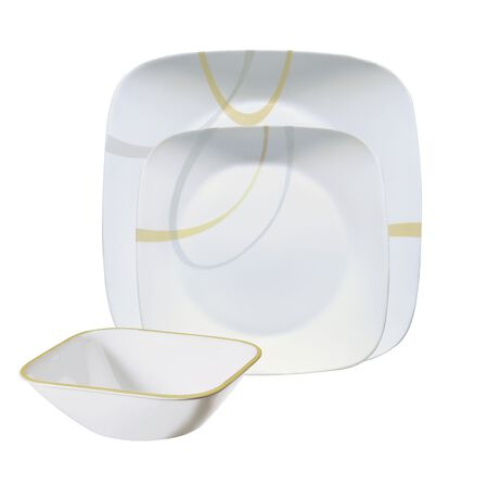 Square™ Modern Lines 12-pc Dinnerware Set