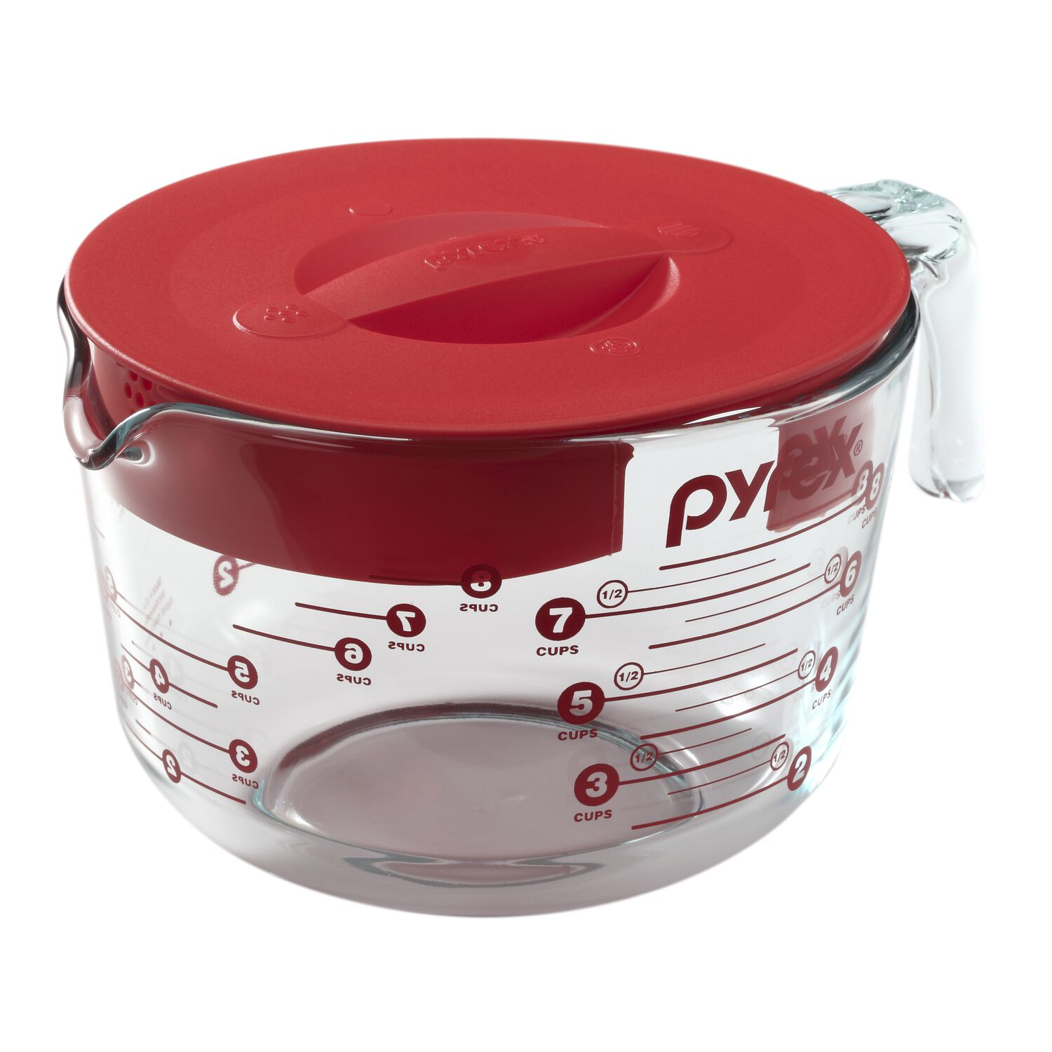 Pyrex 174 8 Cup Measuring Cup W Red Lid Pyrex