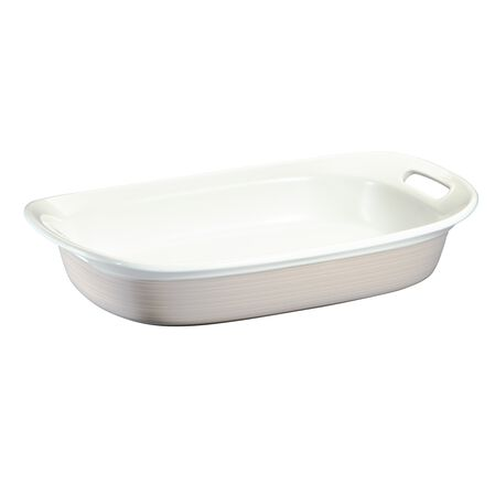 Etch® Sand 3-qt Oblong Baking Dish