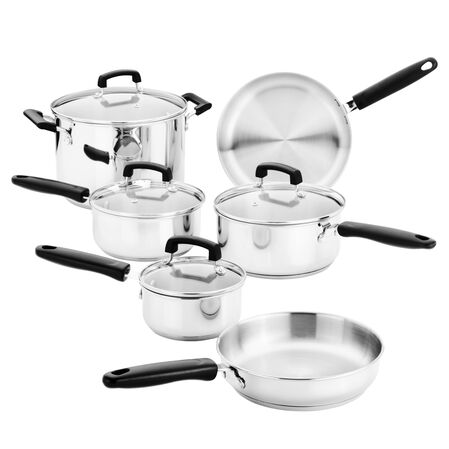 Stainless Steel 10-pc Cookware Set