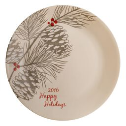 "Livingware™  Happy Holiday 2016 Limited Edition Sandstone 10.25"" Plate"