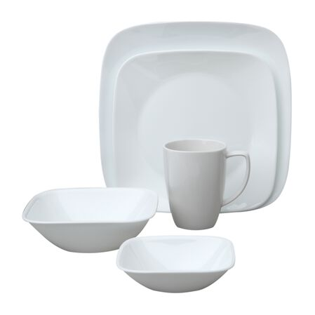 Square™ Pure White 20-pc Dinnerware Set