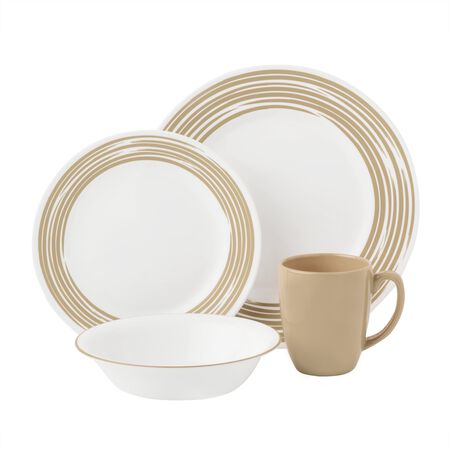 Boutique™ Brushed 16-pc Dinnerware Set, Sand