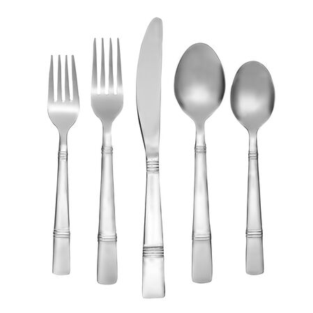 Braylen Mirror 62-pc Flatware Set w/ Oak Tray