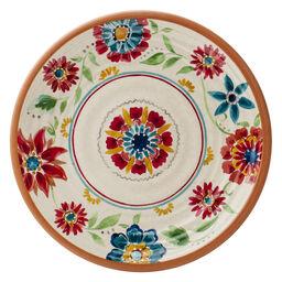 """Southwest Floral Melamine 10.5"""" Plate"""