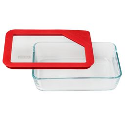 Ultimate 3 Cup Rectangular Storage Dish, Red