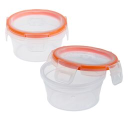 Total Solution™ Plastic Food Storage 2 Pack, Round