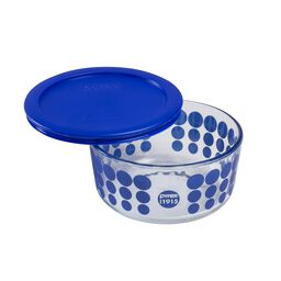 4 Cup 100th Anniversary Blue Dot Storage Dish
