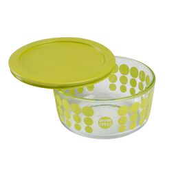 4 Cup 100th Anniversary Green Dot Storage Dish
