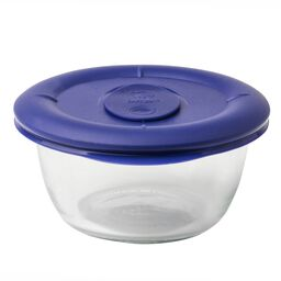 Pro 1.67-cup Round Storage Dish w/ Blue Vented Lid