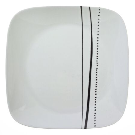 """Square™ Cascading Lines 10.25"""" Plate"""