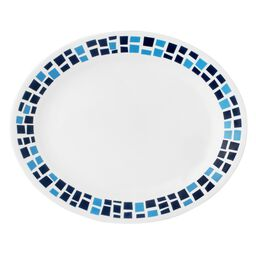 "Boutique™ Precious Colors 9.5"" Oval Platter, Sapphire Blue"