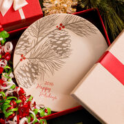 """Livingware™  Happy Holiday 2016 Limited Edition Sandstone 10.25"""" Plate"""