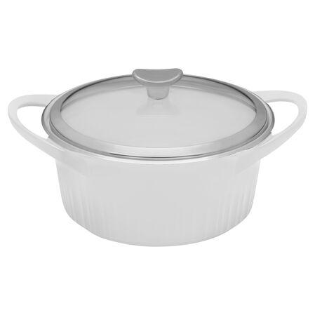 French White® Cast Aluminum™ 3.5-qt White Round Dutch Oven