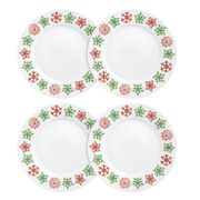 "Impressions™ Cheerful Flurry 4-pc 10.75"" Plate Set"